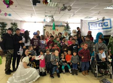 MSS together with volunteers organized new year celebration for children of orphanage at the 13 January of 2018